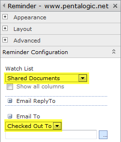 SharePoint Reminder - documents left checked out configuration